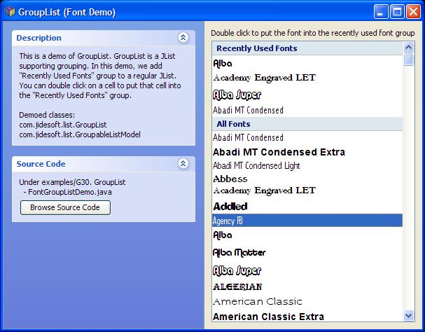JIDE Software - JIDE Grids - Advanced Swing Table