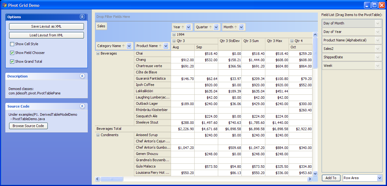 JIDE Software - JIDE Pivot Grid - A Pivot Table Component in Java ...
