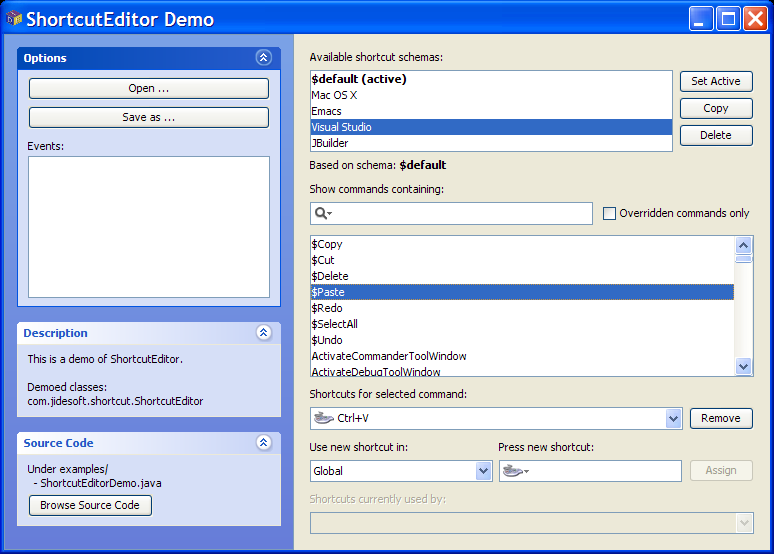 JIDE Software - JIDE Shortcut Editor - A Fully Customizable Keymap